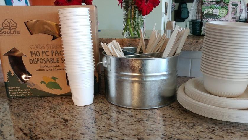 EcoSouLife cornstarch tableware